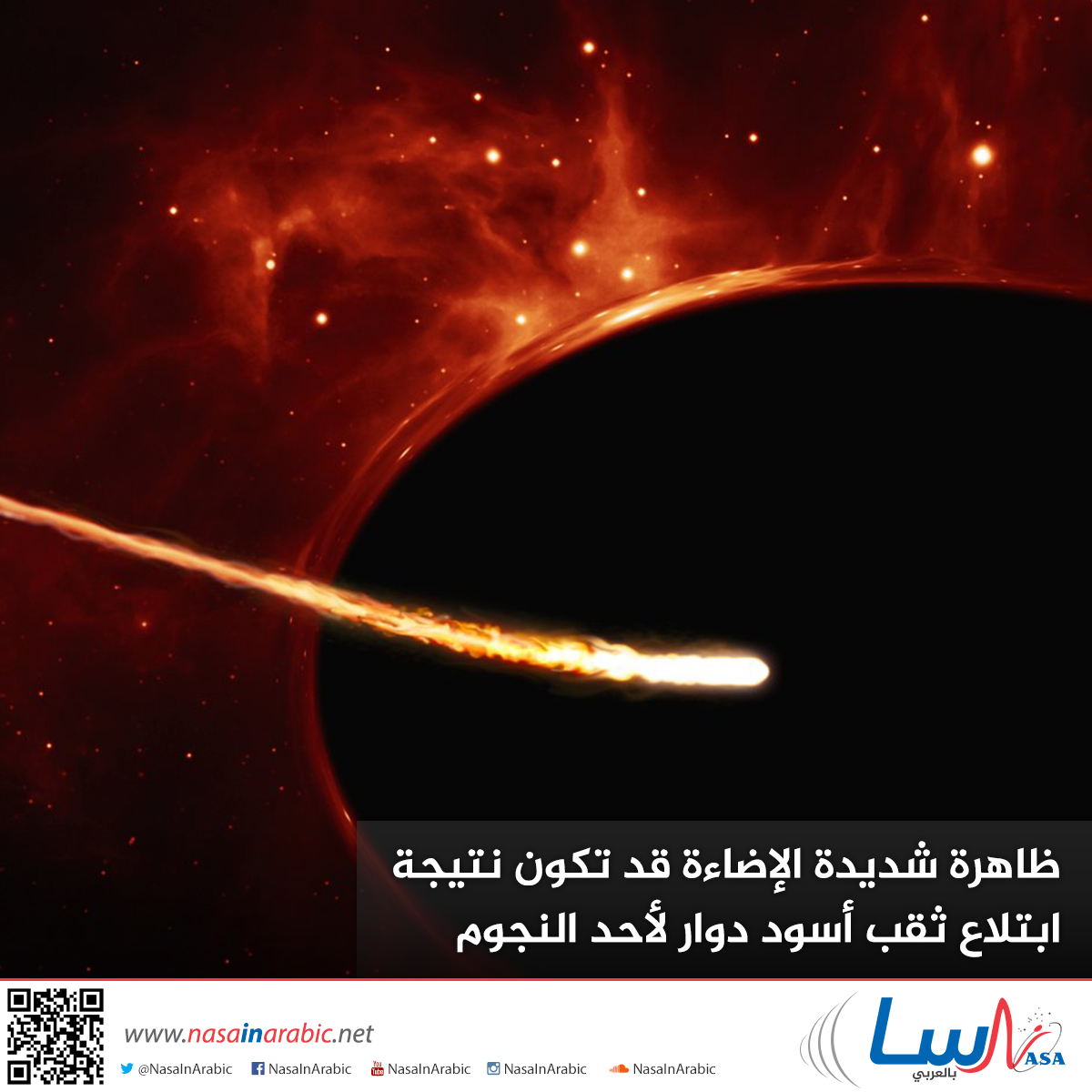 ظاهرة شديدة الإضاءة قد تكون نتيجة ابتلاع ثقب أسود دوار لأحد النجوم