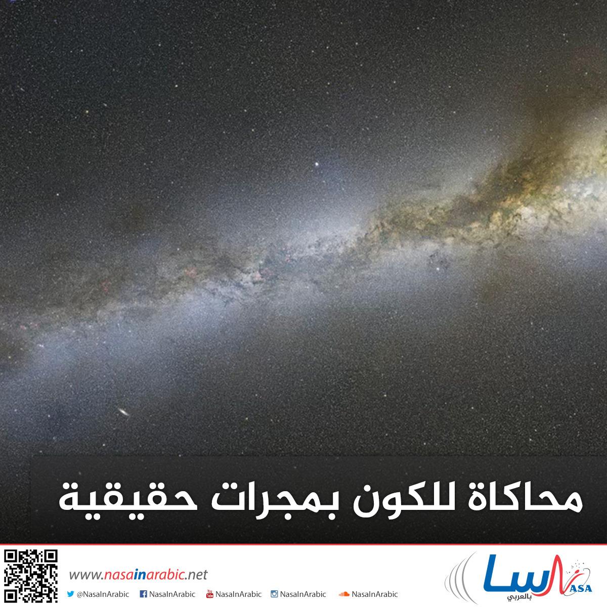 محاكاة للكون بمجرات حقيقية