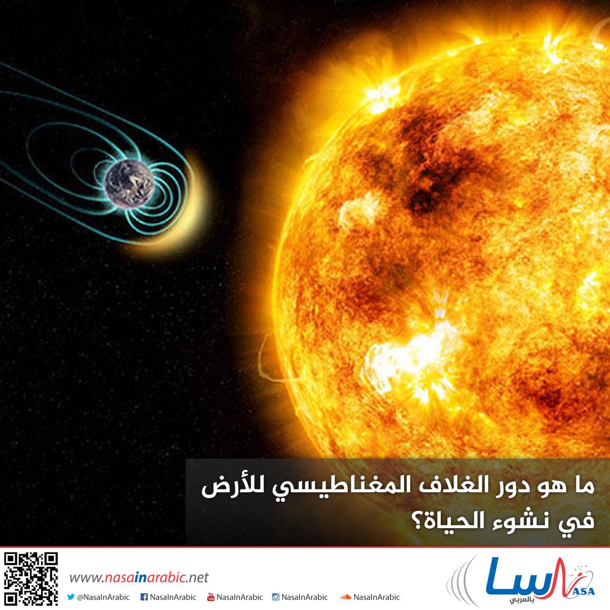 ما هو دور الغلاف المغناطيسي للأرض في نشوء الحياة؟