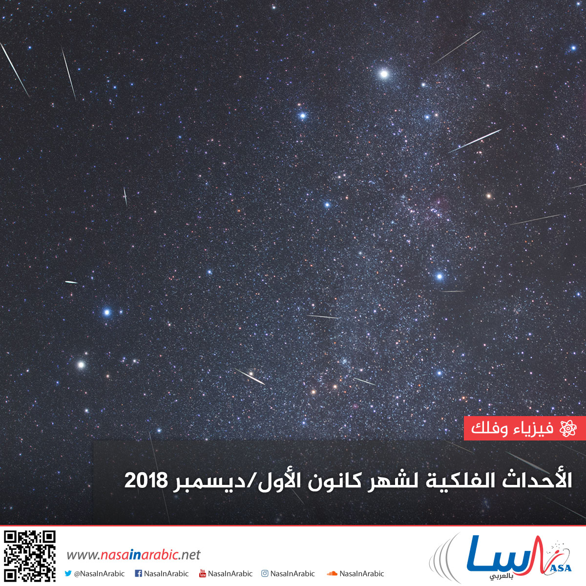 الأحداث الفلكية لشهر كانون الأول/ديسمبر 2018