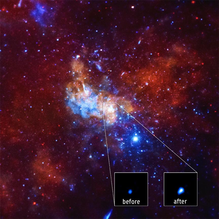 تشاندرا يرصد انبعاث ضخم من الثقب الأسود لمجرة درب التبانة