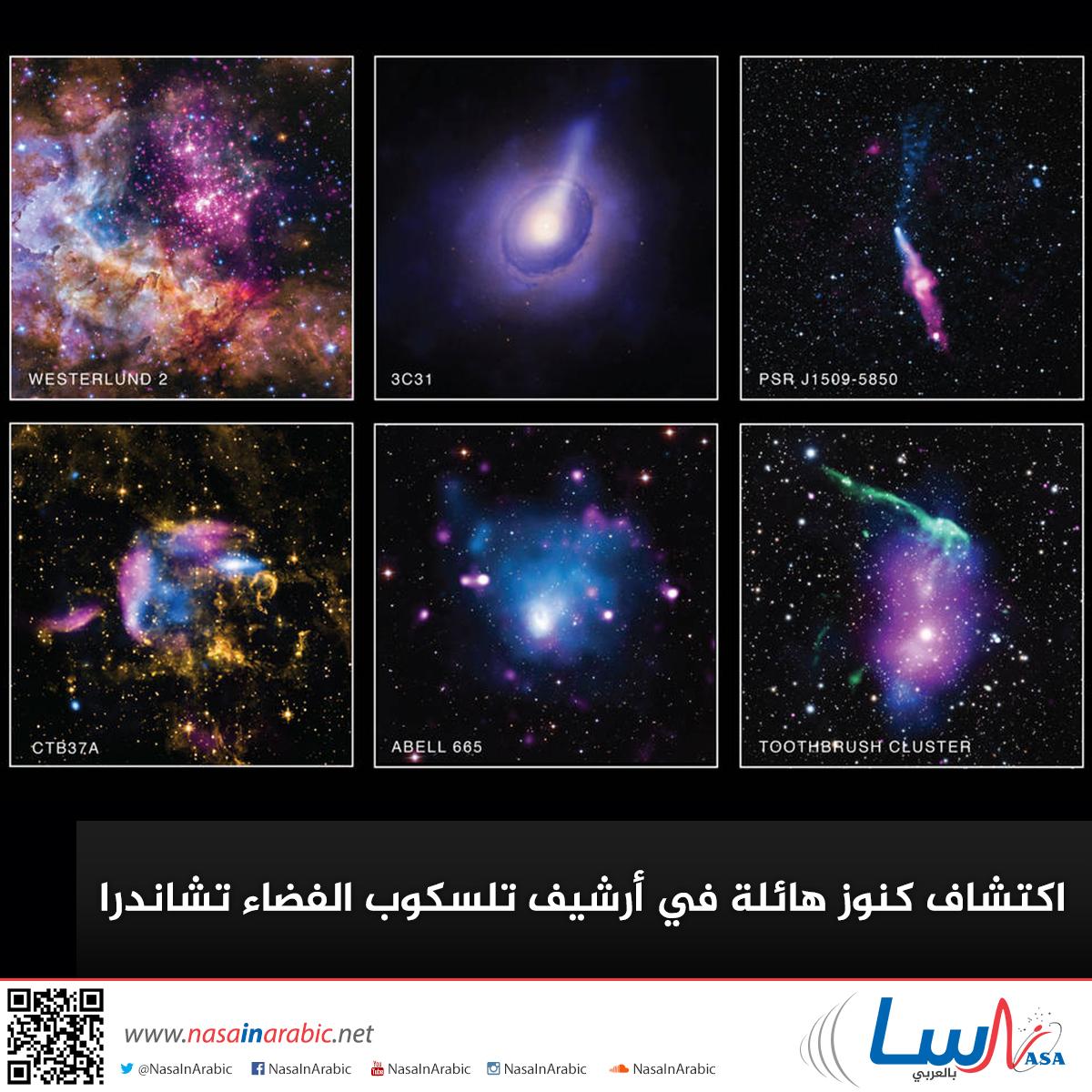 اكتشاف كنوز هائلة في أرشيف تلسكوب الفضاء تشاندرا