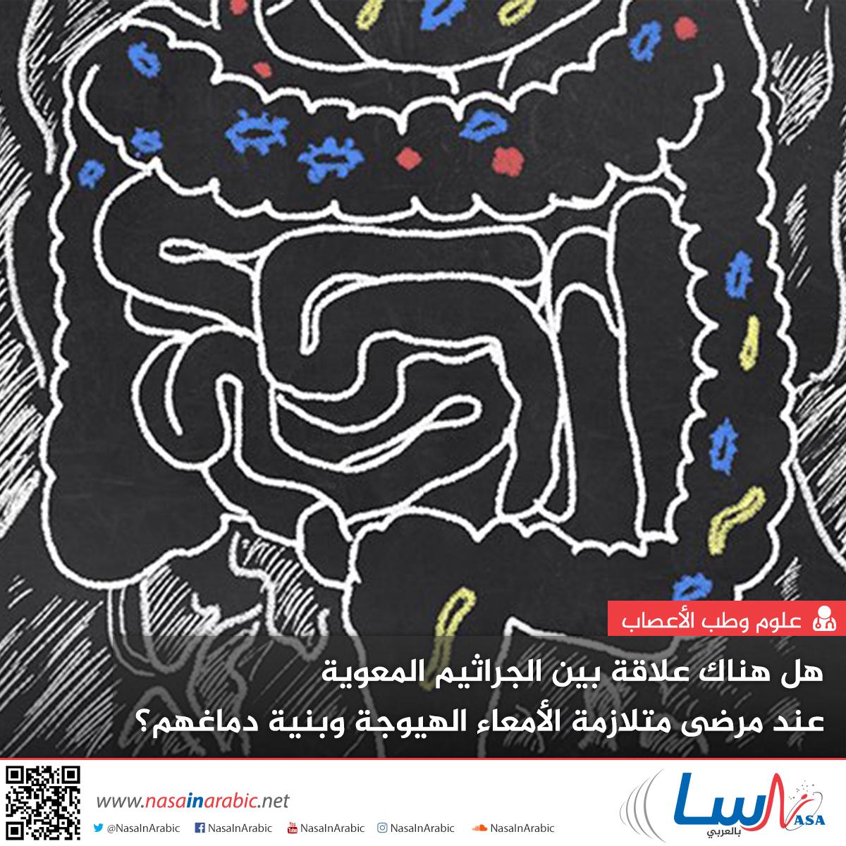هل هناك علاقة بين الجراثيم المعوية عند مرضى متلازمة الأمعاء الهيوجة وبنية دماغهم؟