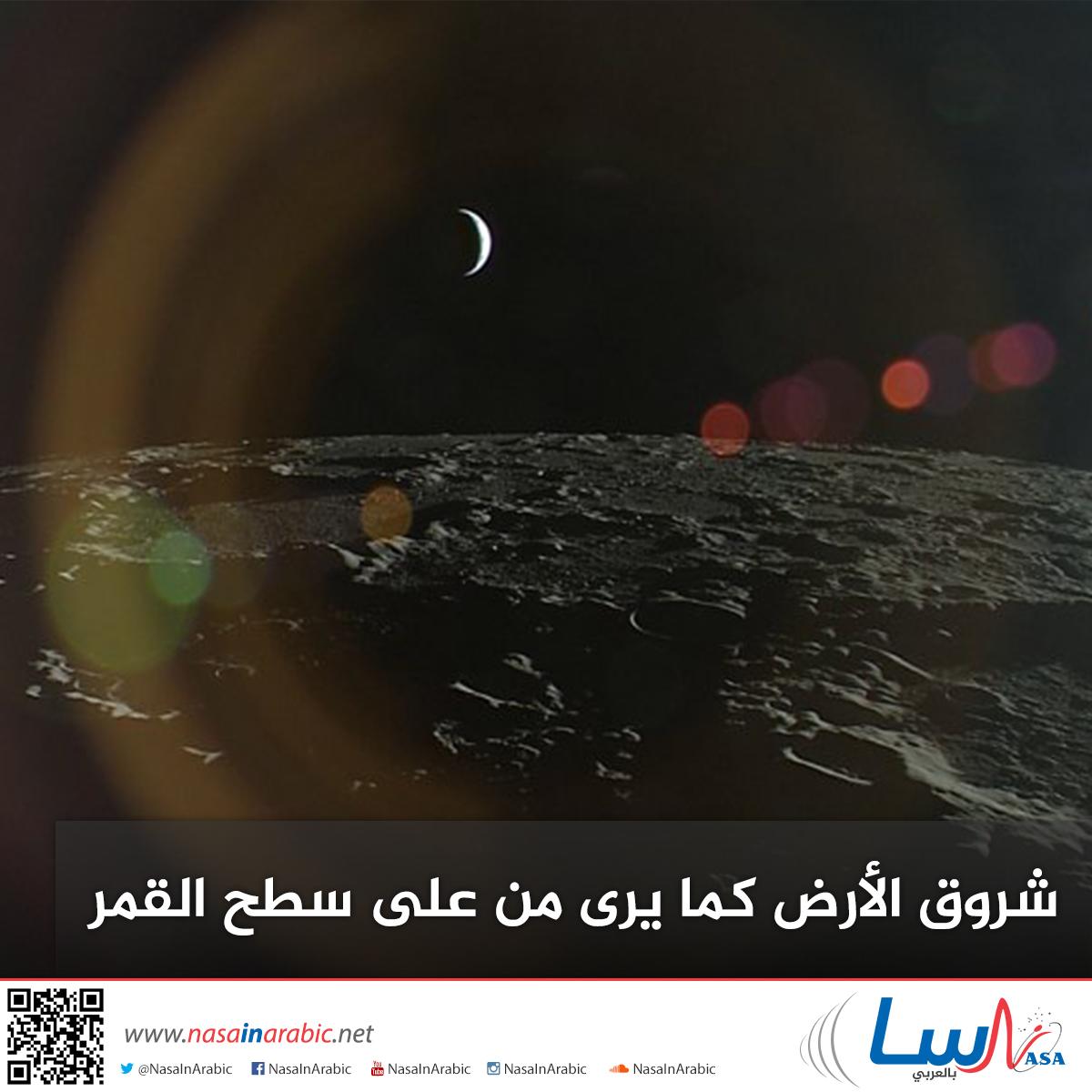 شروق الأرض كما يرى من على سطح القمر