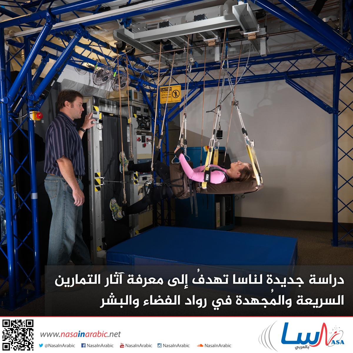 دراسة جديدة لناسا تهدفُ إلى معرفة آثار التمارين السريعة والمُجهدة في رواد الفضاء والبشر