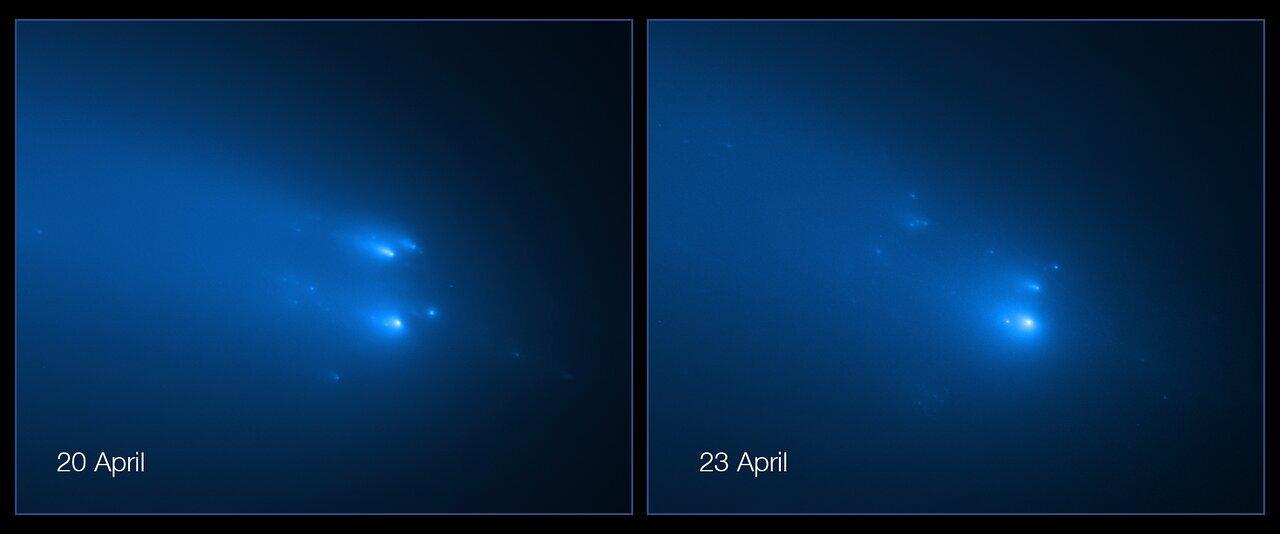 تلسكوب هابل يرصد تفكك مذنب أطلس