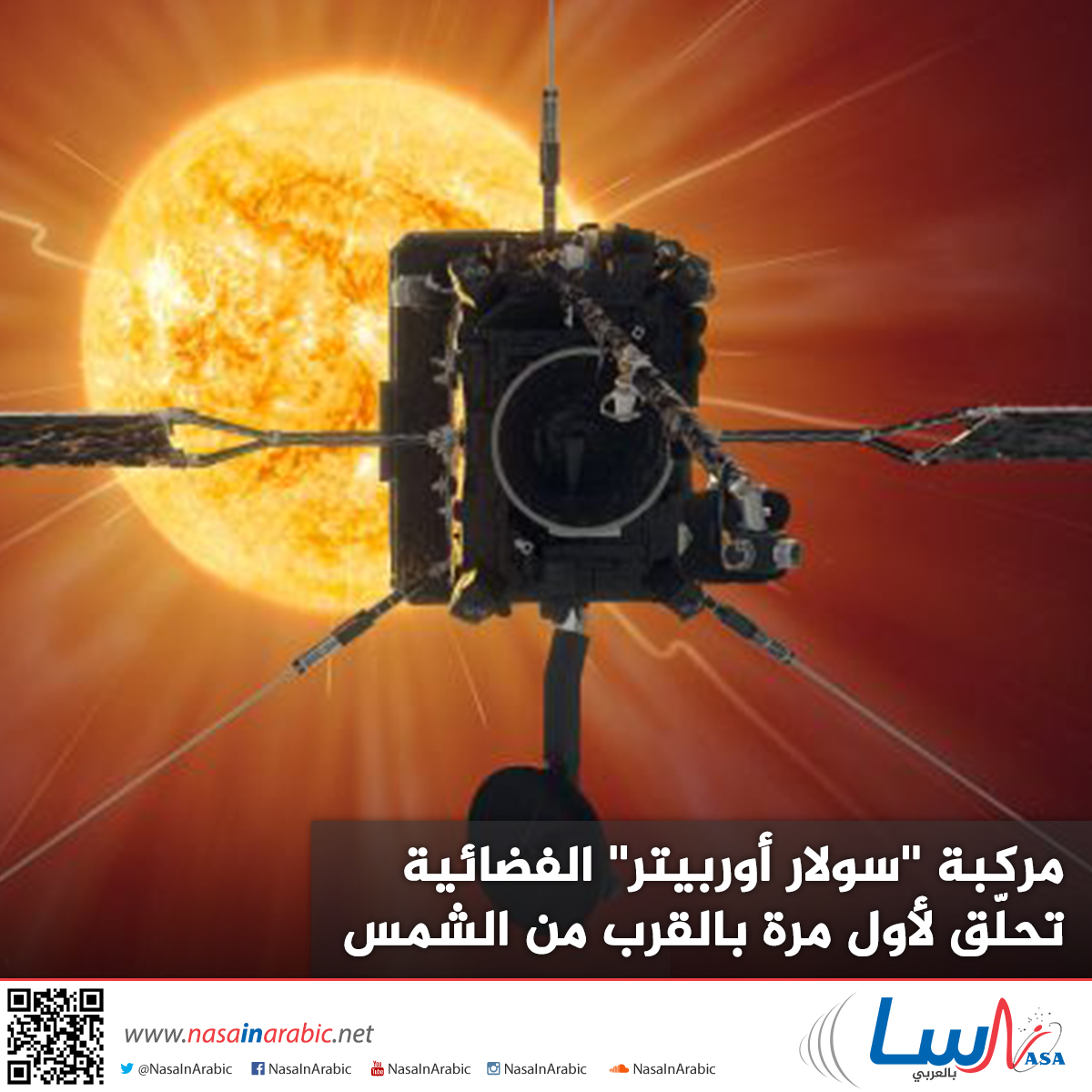مركبة ''سولار أوربيتر'' الفضائية تحلّق لأول مرة بالقرب من الشمس