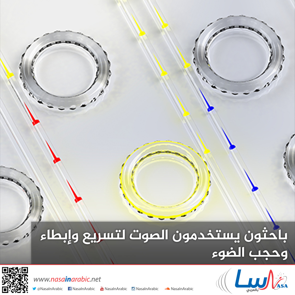 باحثون يستخدمون الصوت لتسريع وإبطاء وحجب الضوء