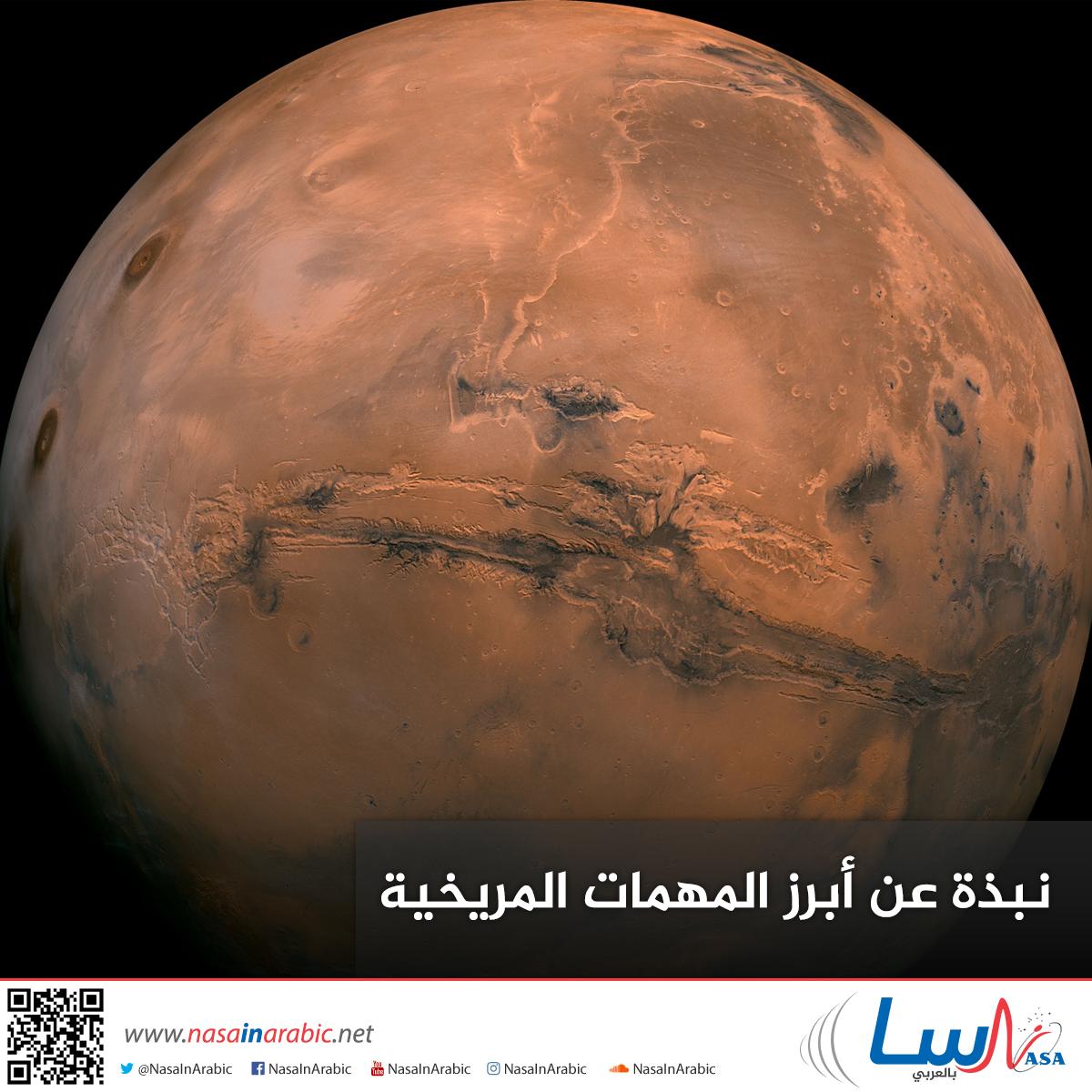 نبذة عن أبرز المهمات المريخية