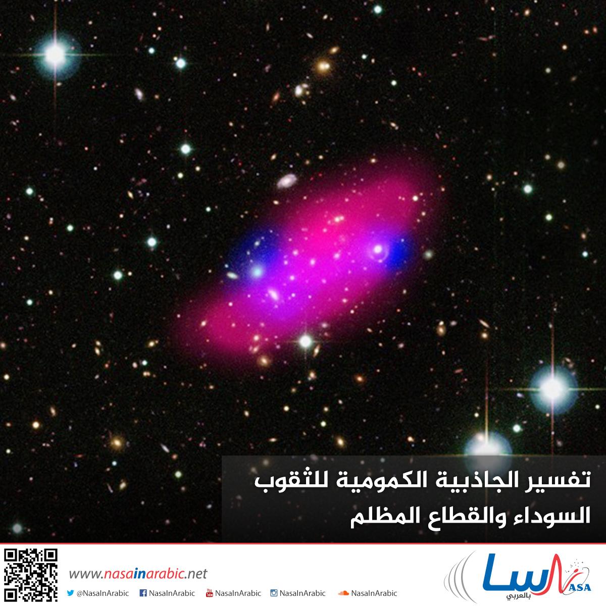تفسير الجاذبية الكمومية للثقوب السوداء والقطاع المظلم