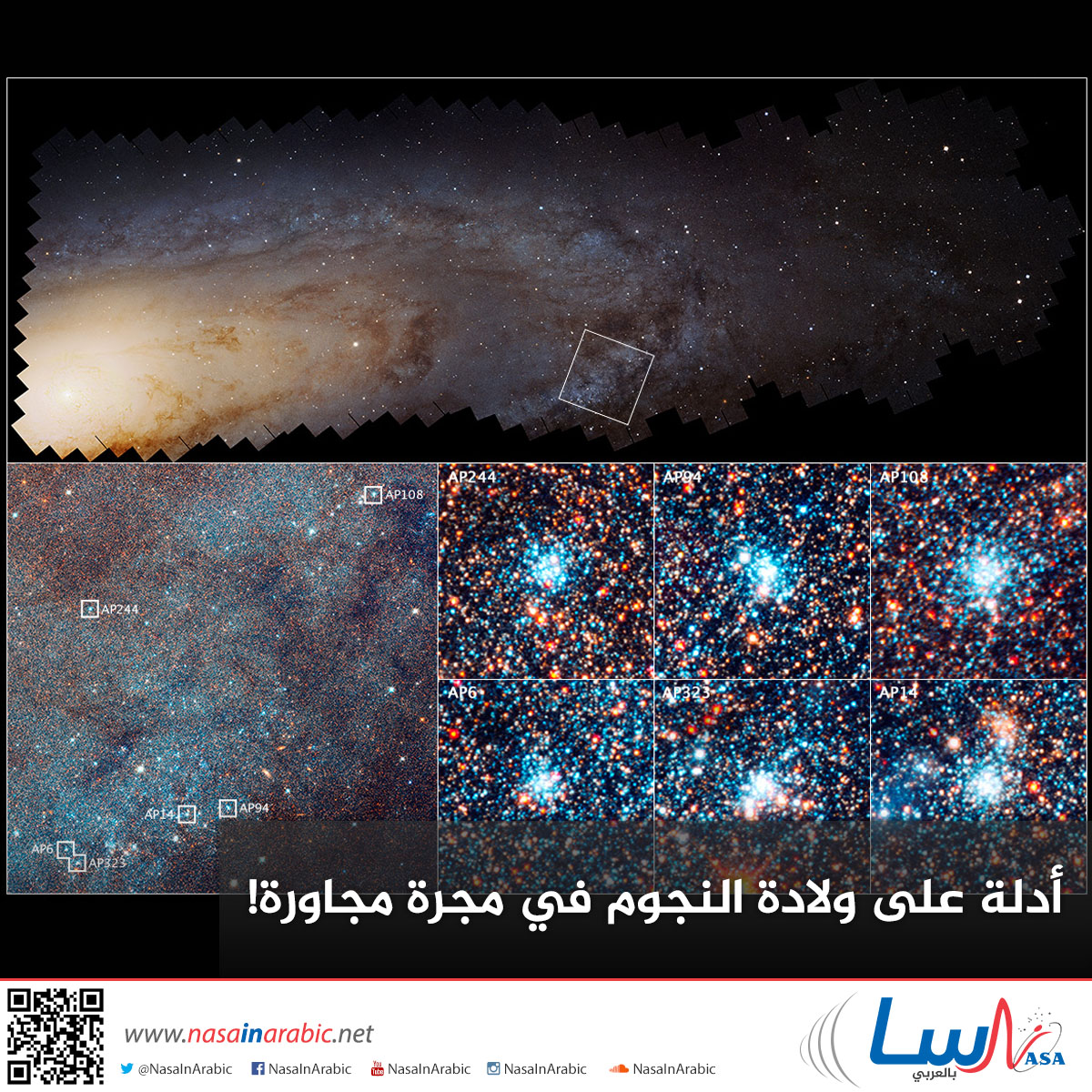 أدلة على ولادة النجوم في مجرة مجاورة!