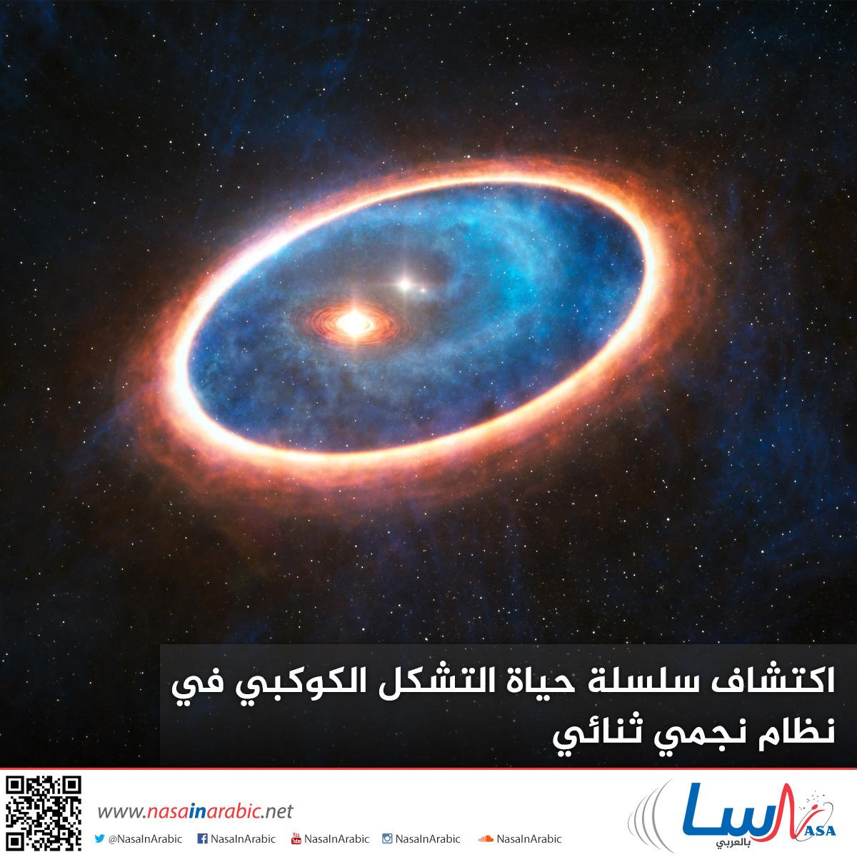 اكتشاف سلسلة حياة التشكل الكوكبي في نظام نجمي ثنائي