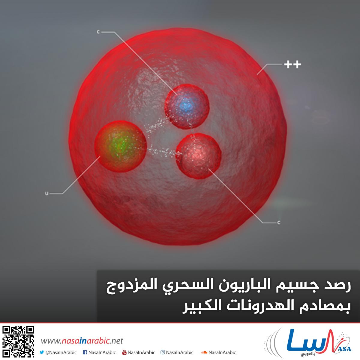 رصد جسيم الباريون السحري المزدوج بمصادم الهدرونات الكبير
