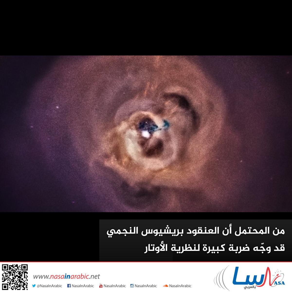 من المحتمل أن العنقود بريشيوس النجمي قد وجّه ضربة كبيرة لنظرية الأوتار