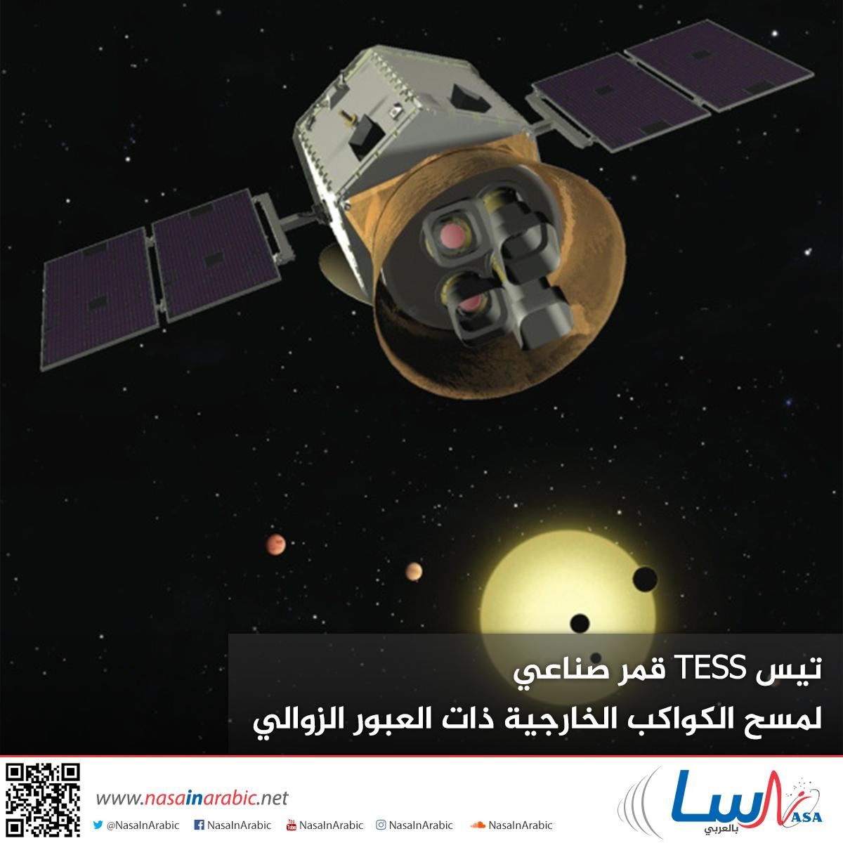 تيس TESS، قمر صناعي لمسح الكواكب الخارجية ذات العبور الزوالي