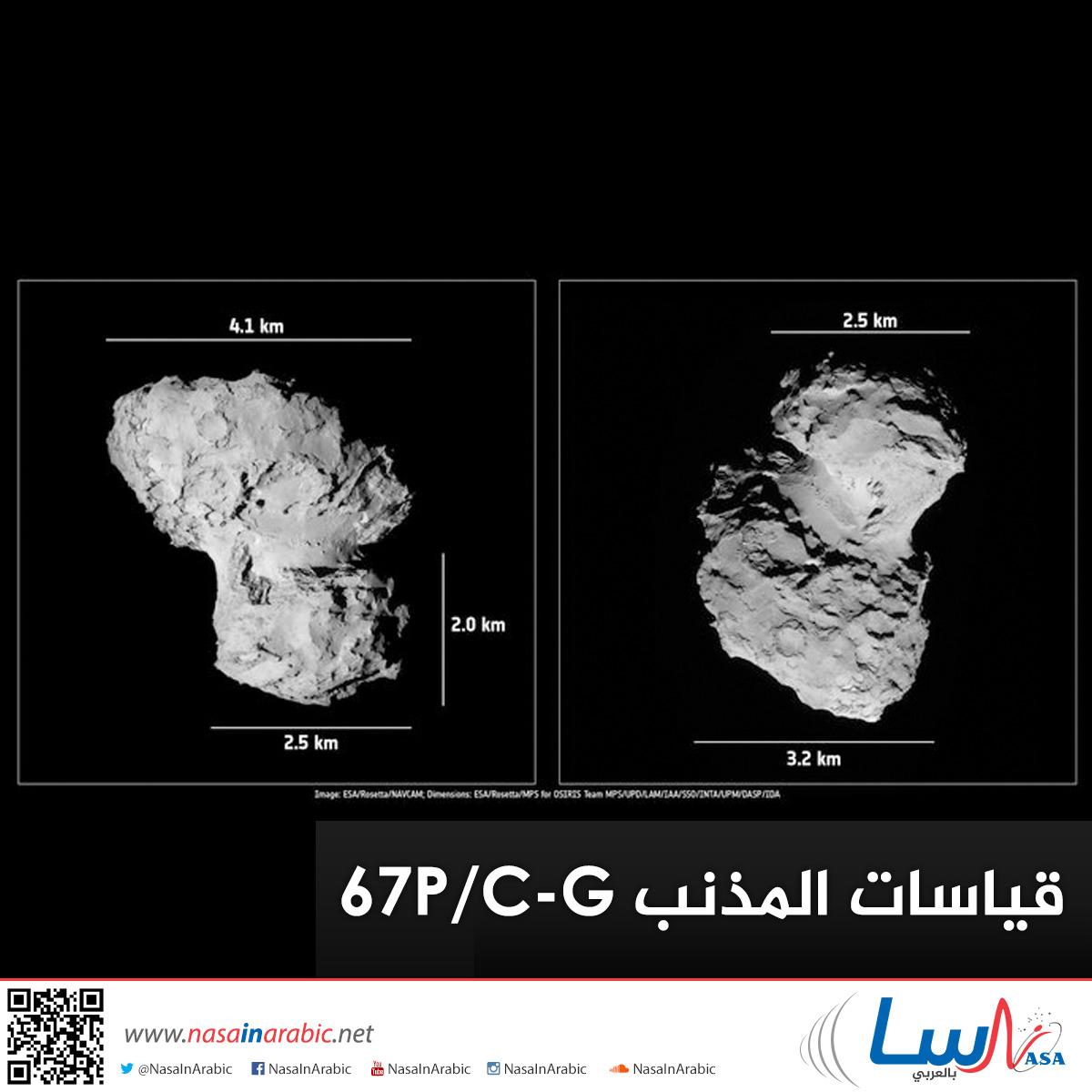 قياسات المذنب 67P/C-G