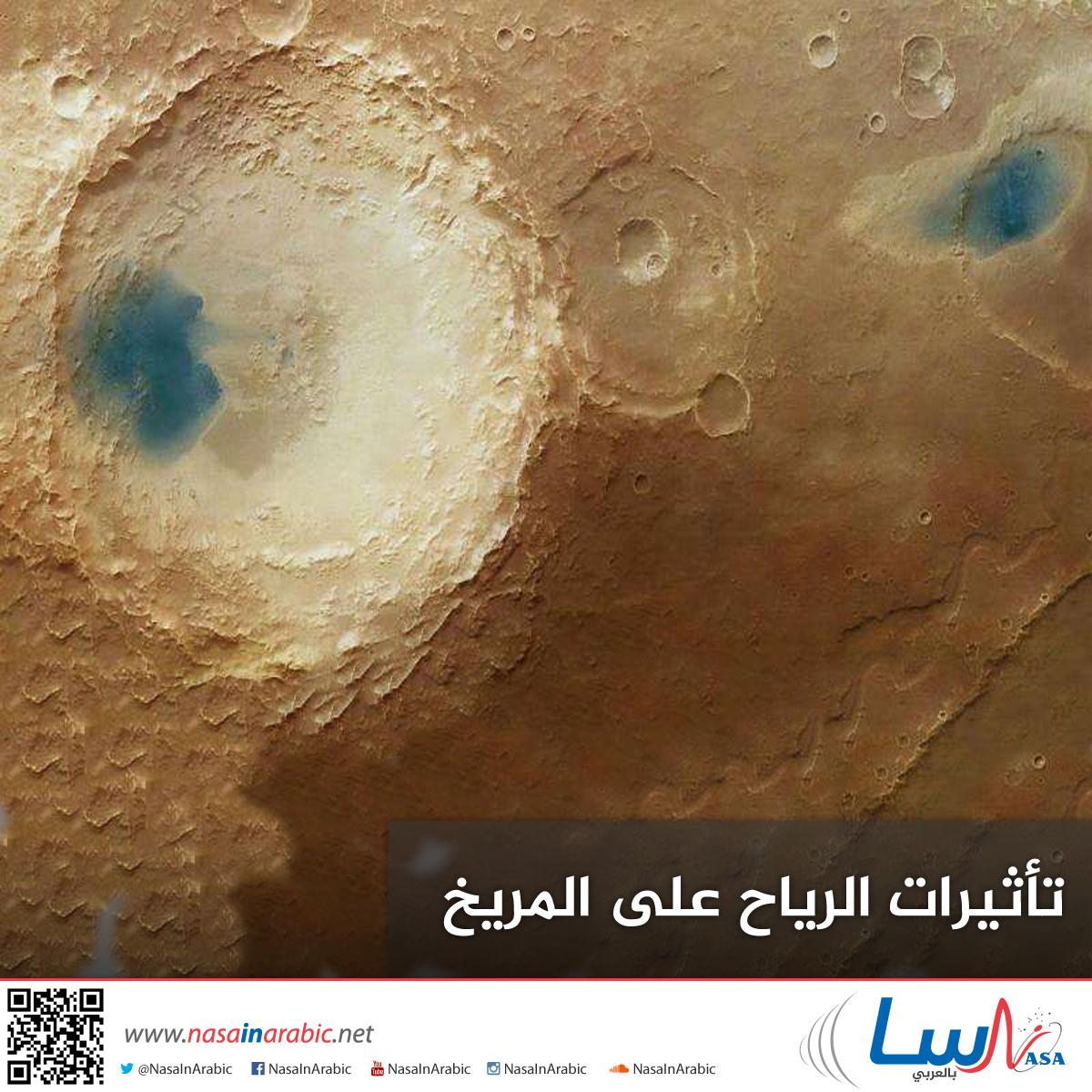 الرّياح وتأثيرها على المرّيخ