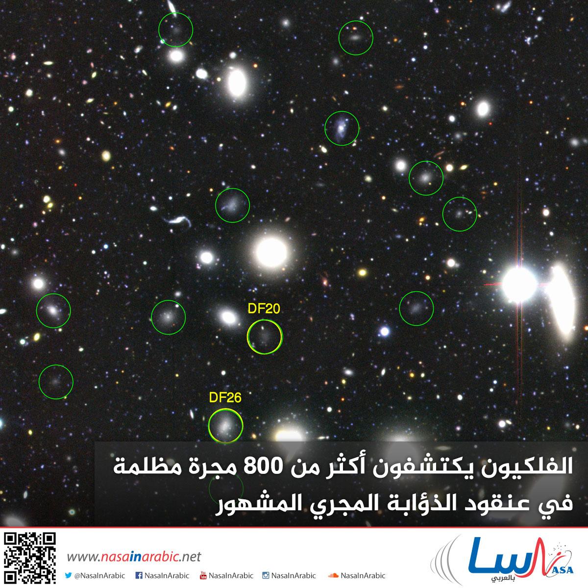 الفلكيون يكتشفون أكثر من 800 مجرة مظلمة في عنقود الذؤابة المجري المشهور