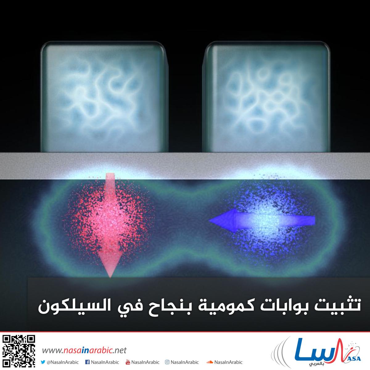 تثبيت بوابات كمومية بنجاح في السيليكون