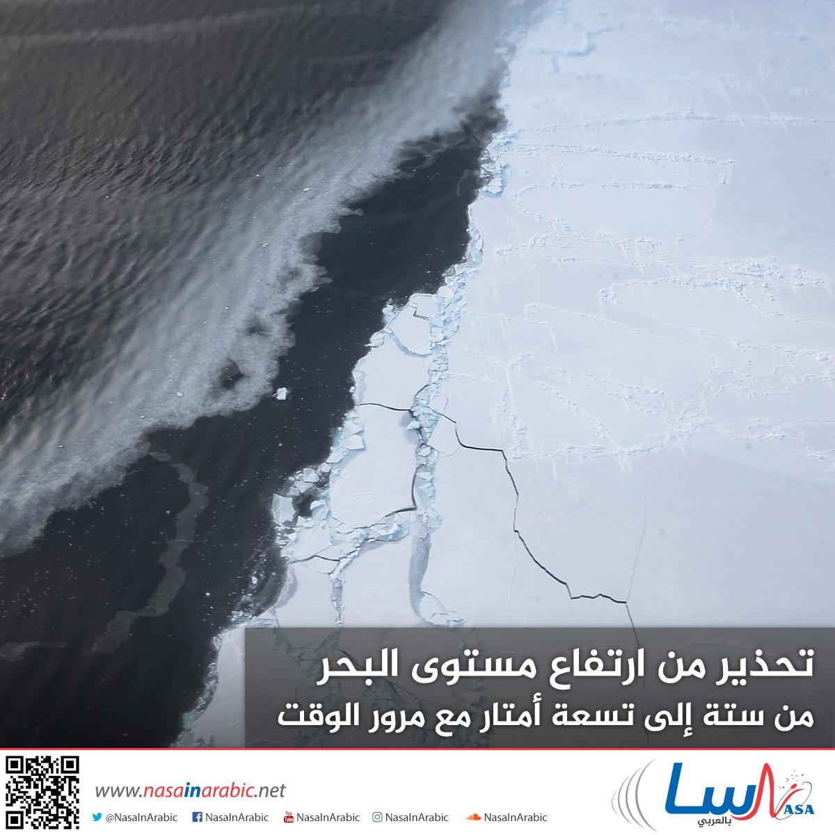 تحذير من ارتفاع مستوى البحر من ستة إلى تسعة أمتار مع مرور الوقت