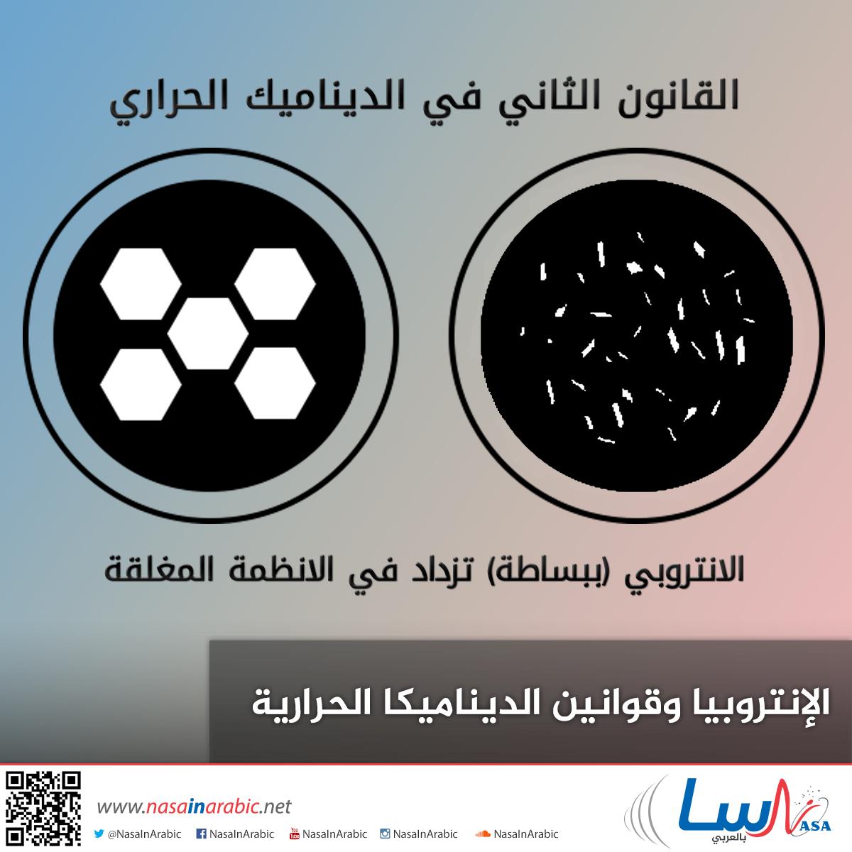 ناسا بالعربي تعليم الإنتروبيا وقوانين الديناميكا الحرارية