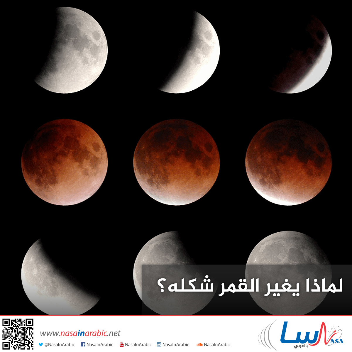 لماذا يغير القمر شكله؟