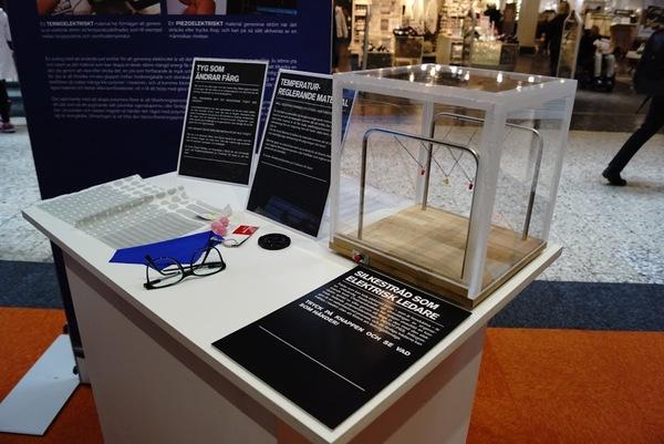 الخيوط الحريرية الناقلة للتيار الكهربائي والأقمشة التي تغيّر ألوانها بتغير درجة الحرارة.الصورة 5
