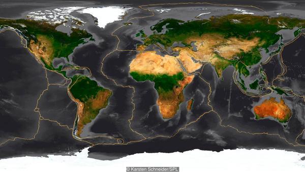 الأرض هي عبارة عن فسيفساء من الصفائح التكتونية