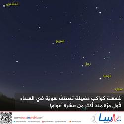 خمسة كواكب مضيئة تصطفّ سويّة في السماء لأول مرّة منذ أكثر من عشرة أعوام!