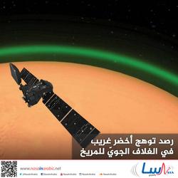 رصد توهج أخضر غريب في الغلاف الجويّ للمريخ