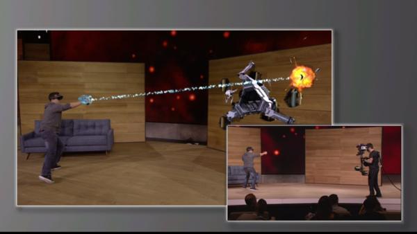 نظارات هولولينس من مايكروسوفت تعرض صورًا ثلاثية الأبعاد في مجال رؤيتك. مصدر الصورة: مايكروسوفت