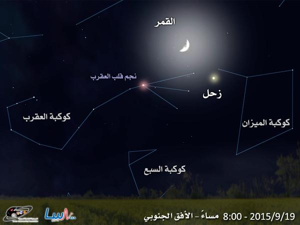 اقتران القمر  و زحل