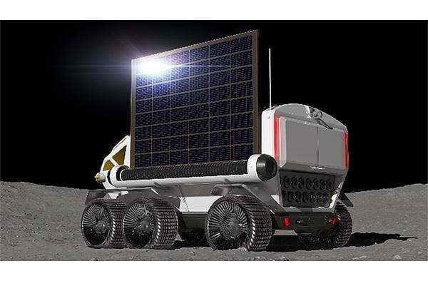 يبدو أن فكرة المركبة اليابانية التي صنعتها شركة تويوتا تستخدم مجموعة من المصفوفات الشمسية لتوليد الطاقة. وتقوم كل من وكالة الفضاء اليابانية وشركة تويوتا باستكشاف فكرة استخدام خلايا الوقود لتوليد الطاقة الكهربائية. الحقوق: JAXA