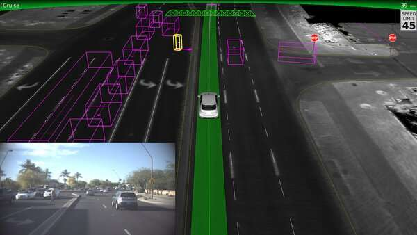 كيف ترى السيارات ذاتية القيادة العالم. حقوق الصورة: Waymo
