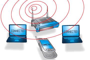 الشبكات اللاسلكية تجعل عملية الدخول إلى الإنترنت عمليةً سهلةً جدًّا. حقوق الصورة: HOWSTUFFWORKS.COM