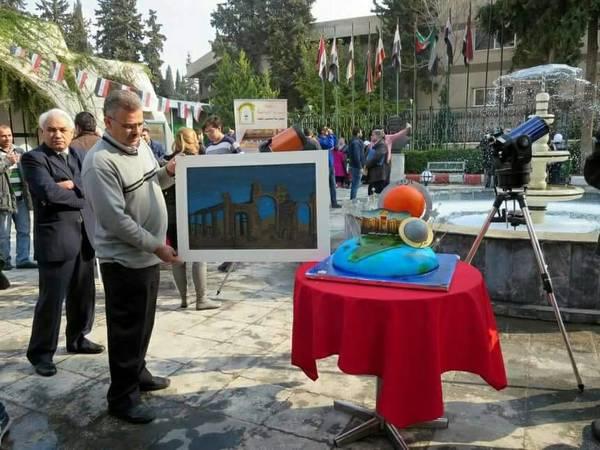 من أجواء الاحتفال. يظهر في الصورة الأستاذ عبد العزيز سنوبر نائب رئيس الجمعية