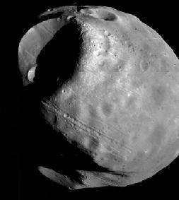 قمر المريخ فوبوس الحقوق: NASA