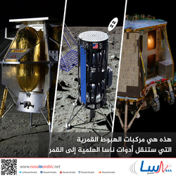 هذه هي مركبات الهبوط القمرية التي ستنقل أدوات ناسا العلمية إلى القمر