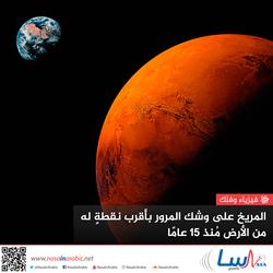 المريخ على وشك المرور بأقرب نقطة له من الأرض منذ 15 عامًا