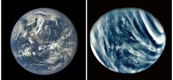 الأرض والزهرة  حقوق الصورة: ناسا