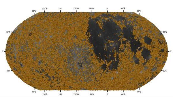 فوهات جديدة مكتشفة في فترة نيكتاريان الزمنية عمرها 3.92-3.85 مليار سنة. حقوق الصورة: السيدة تشين يانغ وآخرون.