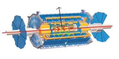 تتصرف جسيمات المادة المظلمة وكأنها سارق زخم. المصدر: 2008 CERN.