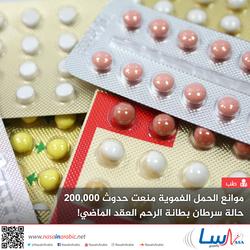 موانع الحمل الفموية منعت حدوث 200,000 حالة سرطان بطانة الرحم العقد الماضي!