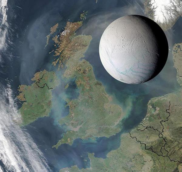 يُعدّ قمر زحل المسمّى إنسيلادوس جسما جليديا صغيرا، لكنّ كاسيني كشفت عن هذا الجرم المحيط ليكون واحداً من وجهات النظام الشمسي الأكثر إثارةً علمياً.