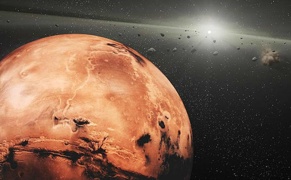 دراسة جديدة عن كويكبات طروادة المريخية في نقطة لاغرانج الخامسة L5 التي لها أصل مشترك. حقوق الصورة: وكالة ناسا NASA