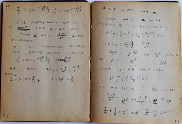 فاينمان كان مُدون ملاحظات دقيق. حقوق الصورة: Melinda Baldwin