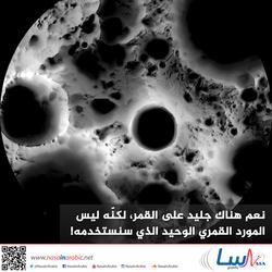 نعم هناك جليد على القمر، لكنّه ليس المورد القمري الوحيد الذي سنستخدمه!