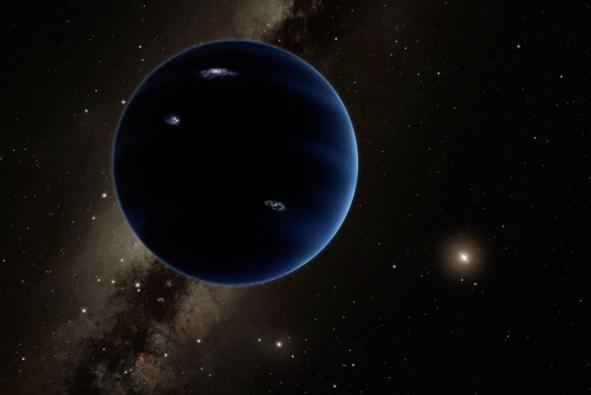 عمل فني لما قد يبدو عليه الكوكب التاسع Caltech/R. Hurt (IPAC
