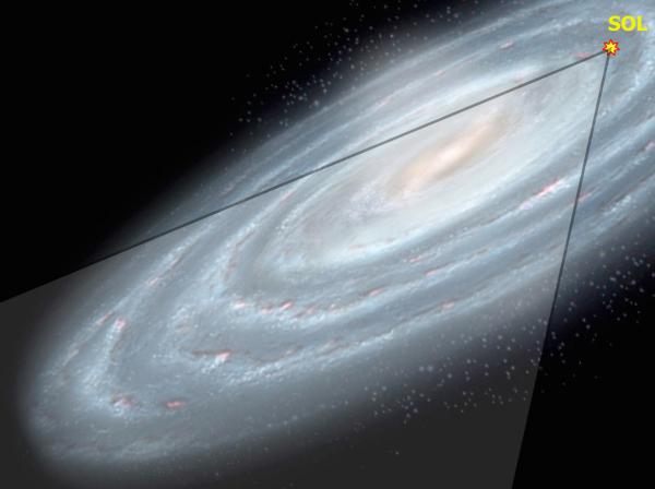 منقطة من مجرة درب التبانة استكشفها VVV survey، بما في ذلك المركز المجري.