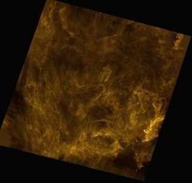 """وهج بولاريس. المصدر: Credit: ESA/Herschel/SPIRE/Ph. André for the """"Gould Belt survey"""" Key Programme Consortium and A. Abergel for the """"Evolution of Interstellar Dust"""" Key Programme Consortium."""